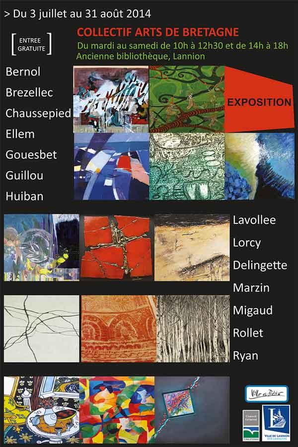 Exposition du Collectif Arts de Bretagne à Lannion — été 2014