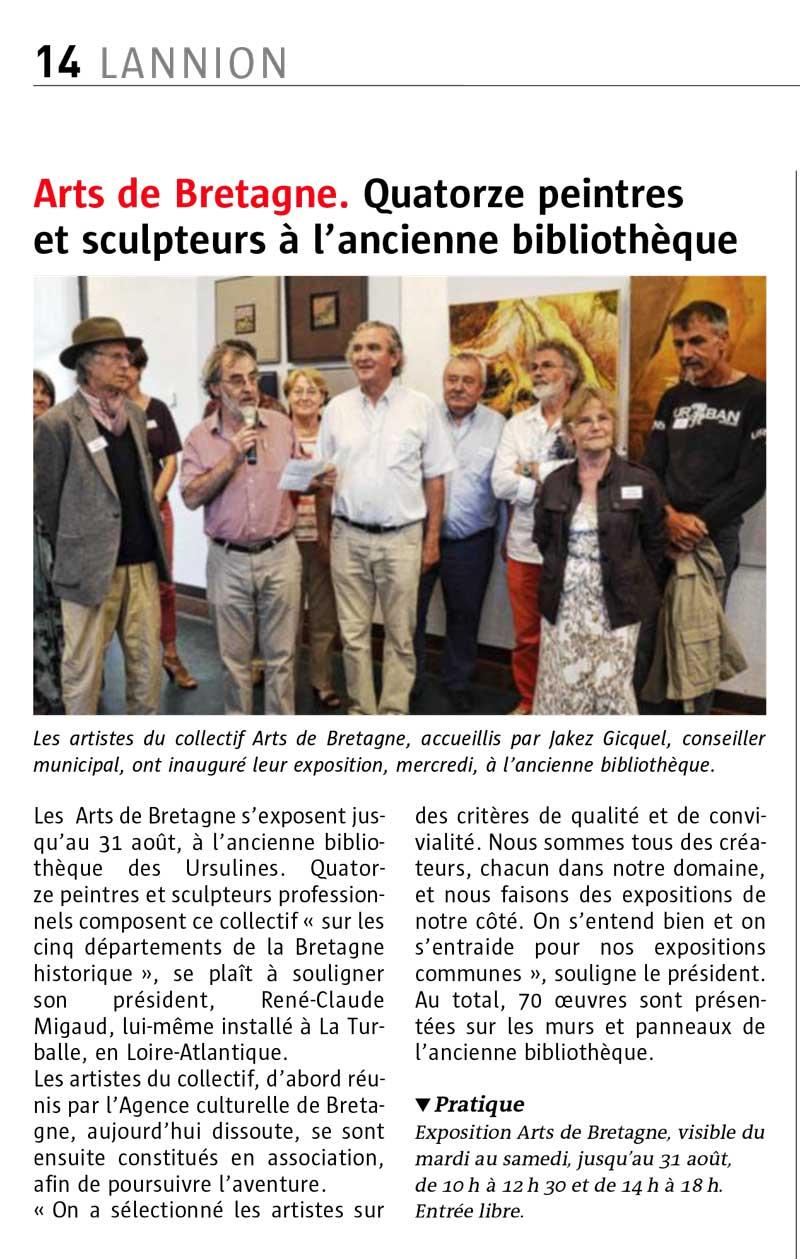 Le collectif arts de bretagne expose lannion collectif - Comptoir metallurgique de bretagne lannion ...