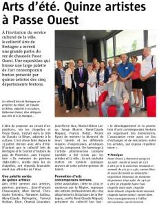 Le collectif Arts de Bretagne expose dans la nouvelle médiathèque de Ploemeur Passe-Ouest.