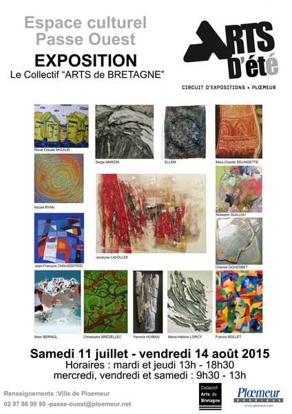 Exposition du Collectif Arts de Bretagne à Ploemeur été 2015