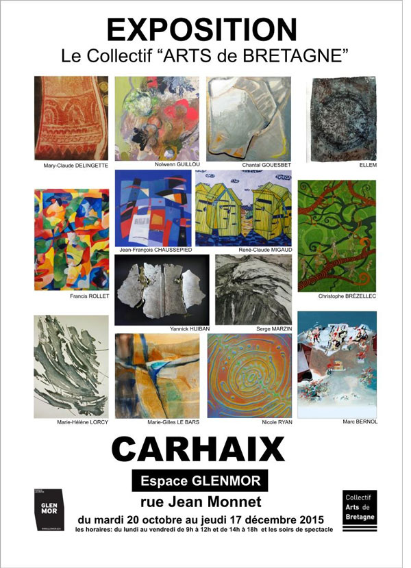 exposition espace Glenmor Carhaix – Collectif Arts de Bretagne ~ Espace Bois Carhaix