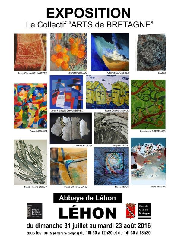 Le collectif Arts de Bretagne expose à l'abbaye de Léhon