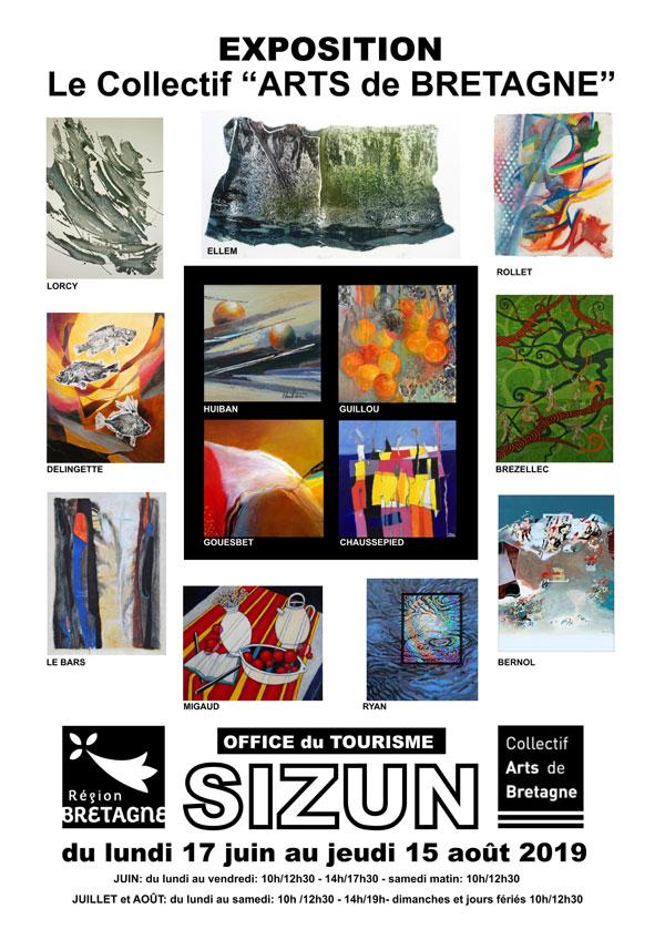 Affiche – exposition du Collectif Arts de Bretagne à Sizun