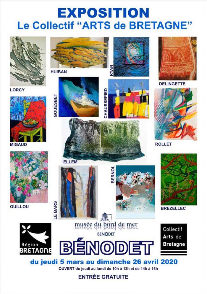 Le Collectif Arts de Bretagne expose au Musée du Bord de mer à Bénodet en 2020.